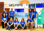 Camp Urban Explorers, sponsored by Slalom, opens June 13, 2018 for inpatients and their families at Ann & Robert H. Lurie Children's Hospital in Chicago. Pictured (front; left to right): Dana Anderson, Meghan Liston, Amber Heinrich, and Scott Zagalak. Pictured (back; left to right): Lara Wagner, Pat Ebervein, Justin Odenbach, Katie Morris, and Rebecca Manderschied.
