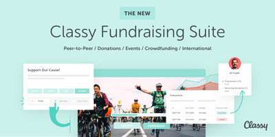 The new Classy Fundraising Suite introduces over 400 major enhancements and brand new features to help nonprofits of all sizes raise more money online.