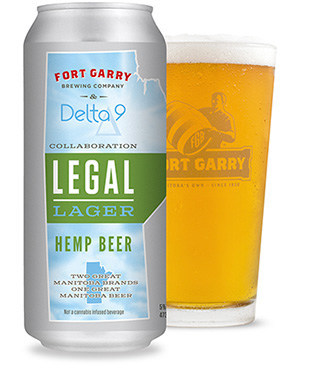 Delta 9's Legal Lager was officially released on May 11, 2018 as a joint project with Fort Garry Brewing Co. (CNW Group/Delta 9 Cannabis Inc.)
