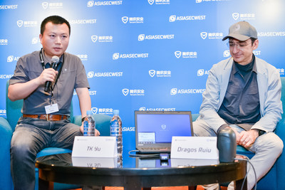 Left: Yu Yang, the head of Tencent Security Xuanwu Lab. Right: Dragos Ruiu, the founder of CanSecWest.