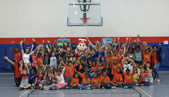 """Famed fast food chain Jollibee kicks off """"Jollibee Days"""" with the Boys and Girls Club of West Scarborough (Photo credit: Jollibee)"""