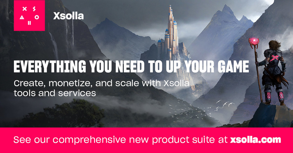 Everything you need to up your game. Create, monetize and scale with Xsolla tools and services. See our new product suite at xsolla.com.