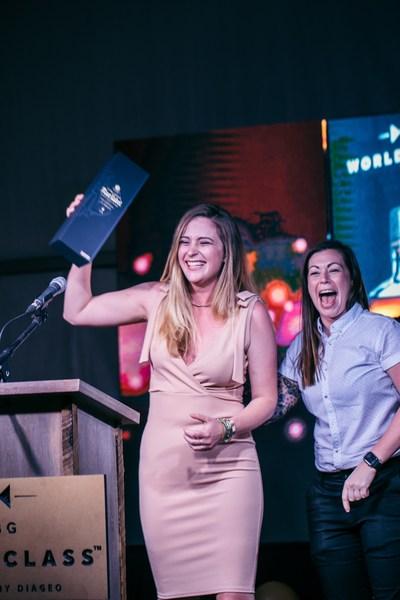 USBG World Class US National Finals Sponsored by Diageo 2018 Winner Laura Newman with World Class 2017 Bartender of the Year Kaitlyn Stewart