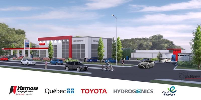 Maquette du futur site multiénergies de Québec (Groupe CNW/Harnois Groupe pétrolier)