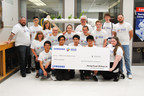 Students and teachers of Thornlea Secondary School in Thornhill, Ontario, celebrate being selected as one of four winning projects in the 2018 Samsung Solve for Tomorrow Challenge. (CNW Group/Samsung Electronics Canada)