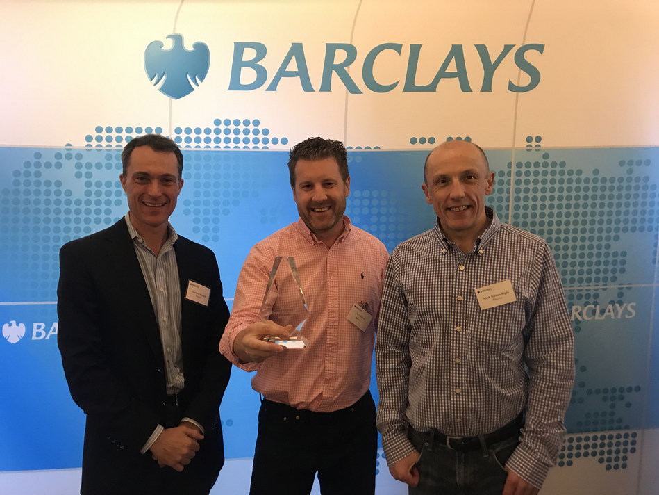 From the left: Laurence Braham, Co-Head of Technology Banking at Barclays, Steve Burton, VP of Product Marketing at Harness, Mark Ashton-Rigby, Group CIO at Barclays.