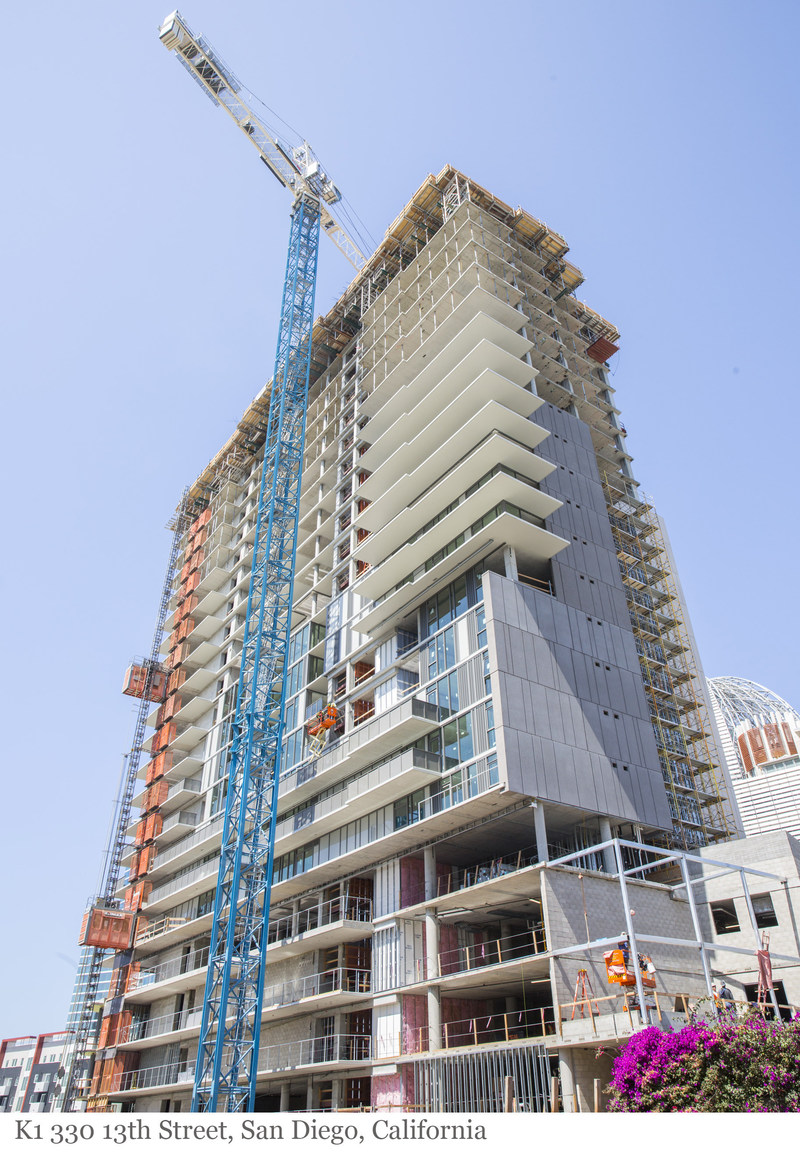 Level 10 Construction Tops Out K1, a 23-Story Mixed-Use High-Rise in Downtown San Diego