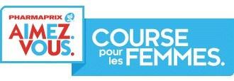 Logo : La Course pour les Femmes PHARMAPRIX AIMEZ. VOUS. (Groupe CNW/Pharmaprix)