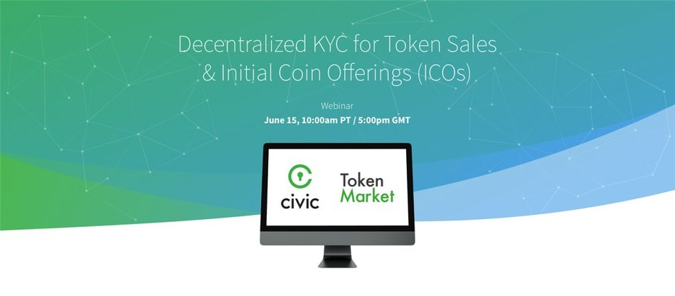 TokenMarket and Civic Webinar Launches June 15 2018