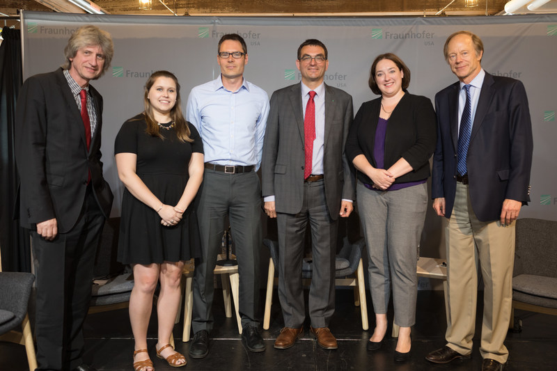 """""""Fraunhofer CSE hosted a discussion on residential energy scorecards with panelists from Fraunhofer IBP in Germany, Greenovate Boston, Mass DOER, and NEEP."""""""
