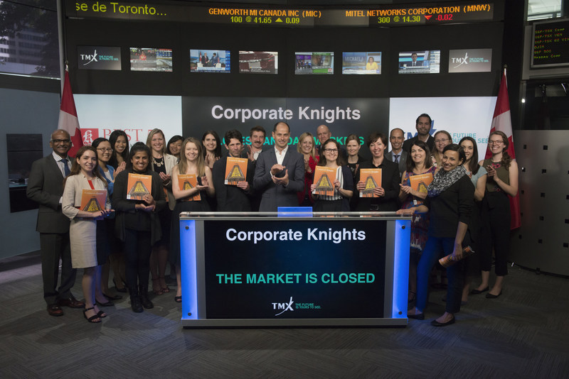 Corporate Knights Close the Market (CNW Group/TMX Group Limited)