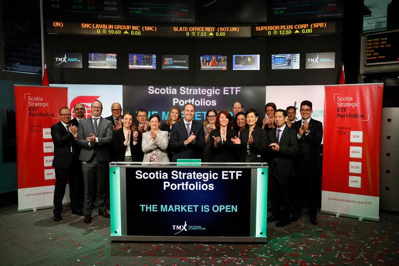 Scotia Strategic ETF Portfolios Opens the Market (CNW Group/TMX Group Limited)