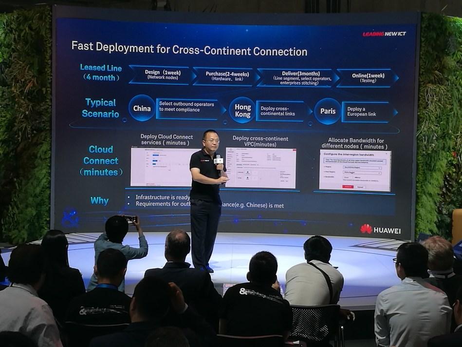 Huawei's Cloud Connect showcase (PRNewsfoto/Huawei)