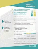 Vision immobilière - Toute première Vision immobilière du gouvernement du Québec (Groupe CNW/Cabinet du ministre responsable de l'Administration gouvernementale et de la Révision permanente des programmes et président du Conseil du trésor)