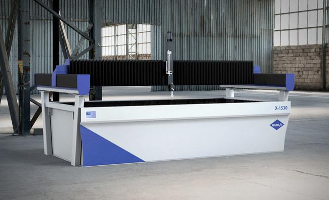 The AXYZ International/WARDJet X-1530 Waterjet cutting system