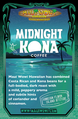Maui Wowi provides something special for those loyal to the dark side all year round. Midnight Kona, a perfect combination of Costa Rican and Kona coffee beans, falls on the darker end of the coffee spectrum.
