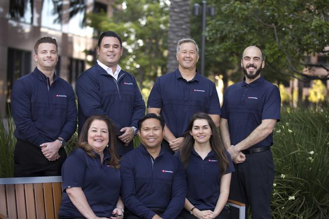 SBA Team - left to right, Jamie Bryan, TJ Chavez, Terry Berg, Andrew Ayrouth; seated, left to right, Marilyne Patton, Natividado Maneja, Lindsay Phelan.