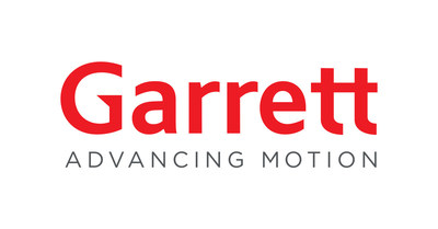 The new Garrett logo and Advancing Motion tagline will support the company's capabilities and investments in turbocharging technologies, electric products and connected automotive software. (PRNewsfoto/Honeywell Transportation Systems)