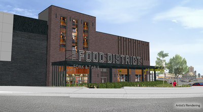 Rendering of the Square One Shopping Centre West Expansion Phase 1 - Food District (CNW Group/Square One Shopping Centre)