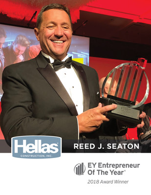 Hellas Construction President and CEO Reed J. Seaton after being awarded Entrepreneur of the Year� 2018 for the Central Texas Region on June 8, 2018.