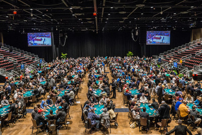 Poker action at Seminole Hard Rock's new Hard Rock Event Center during April 2018's Poker Showdown