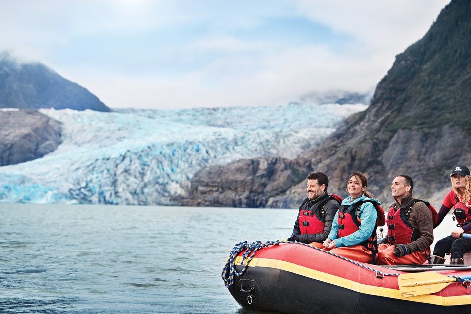 Cruise line shore excursions get you up close and personal with such bucket list attractions as the Mendenhall Glacier in Juneau, Alaska. Photo courtesy of Princess Cruises