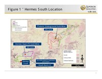 Figure 1 - Hermes South Location (CNW Group/Superior Gold)