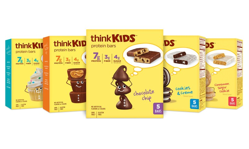 thinkKIDS launches protein bars for kids available in five delicious flavors.