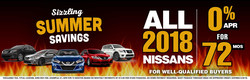 Las Vegas shoppers may be able to enjoy great summer savings at Planet Nissan until the end of June 2018. One offer is 0 percent APR financing for up to 72 months for qualified buyers.