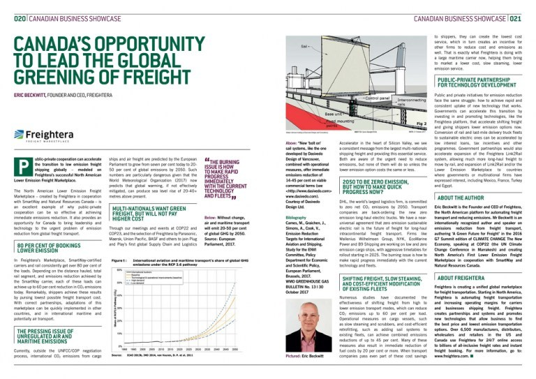 CCTNE G7 2018 thought leadership article, by Eric Beckwitt, Freightera CEO