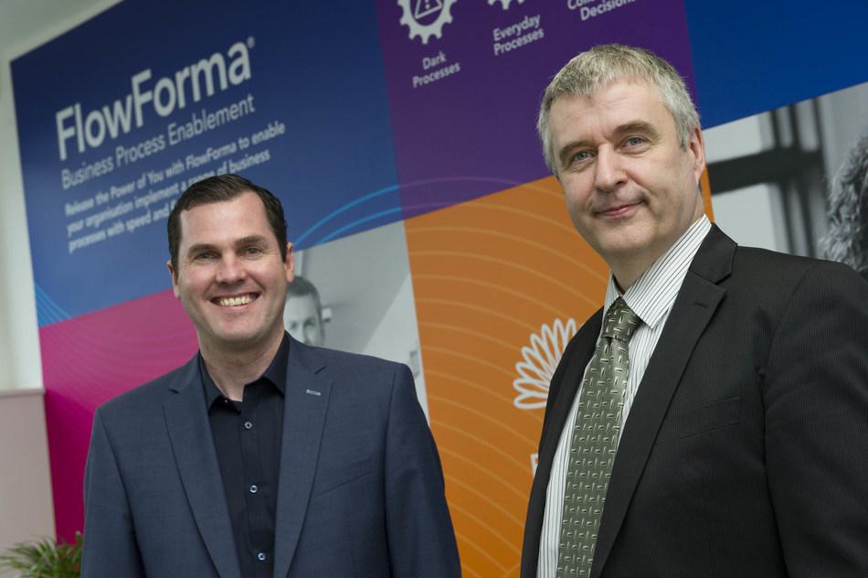 Neil Young, CEO, FlowForma and Padaig Canavan, Chairperson, FlowForma (PRNewsfoto/FlowForma)