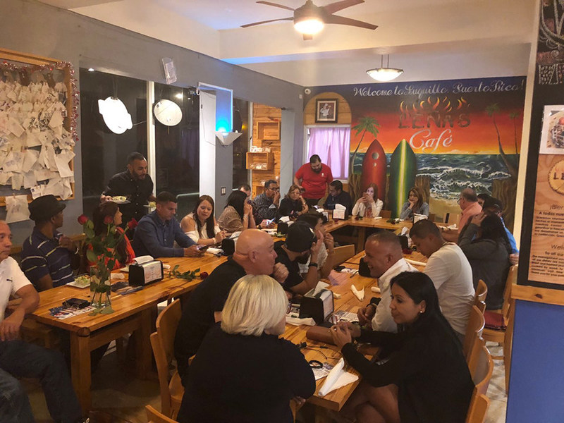 Injured veterans and their significant others recently enjoyed an evening of romance and camaraderie at a Wounded Warrior Project® event at Leñas Café.