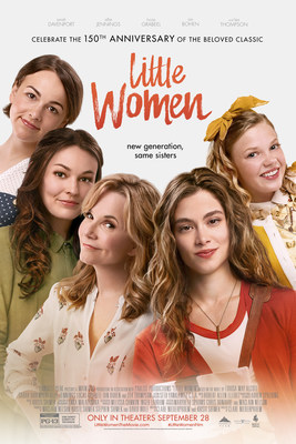 LITTLE WOMEN in theaters only September 28, 2018.