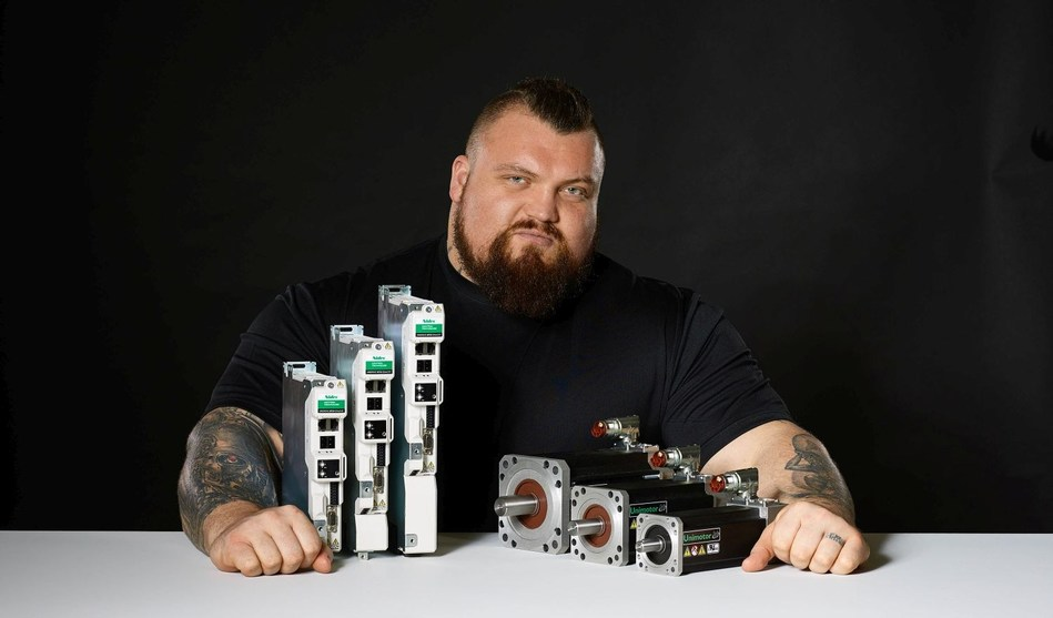 Eddie Hall, the World's Strongest Man, has teamed up with British drives manufacturer Control Techniques to promote the company worldwide. (PRNewsfoto/Control Techniques)