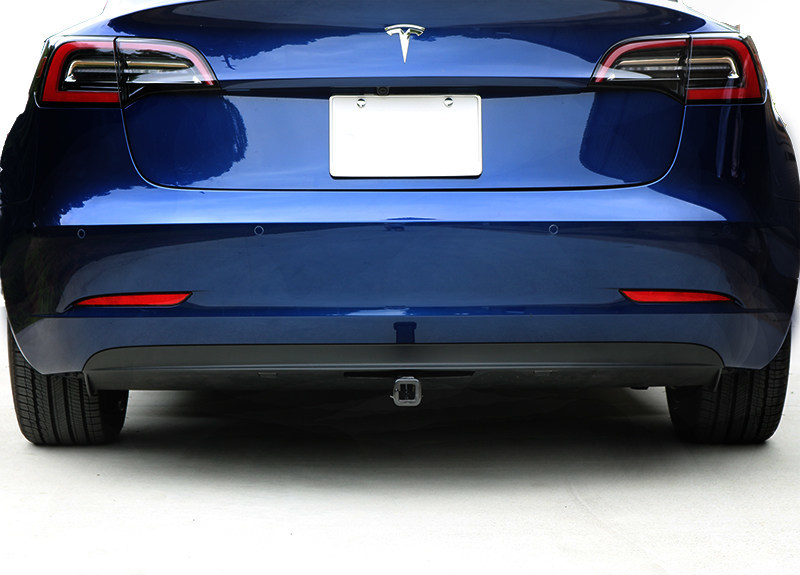 Stealth Hitches Tesla _ Removable Rack Receiver Installed