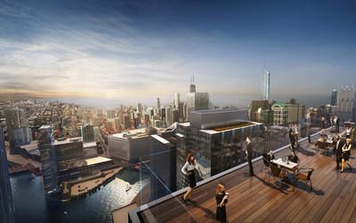 110 North Wacker high-rise terrace
