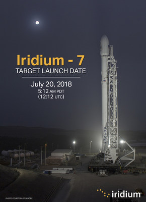 The Iridium-7 launch is currently targeting July 20, 2018.
