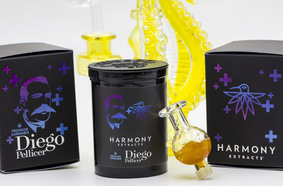 A new dab consumption system. Harmony Extracts, Wildfire Glass and Diego Pellicer launch a limited edition, premium live sugar inside a glass bubble cap, $75.