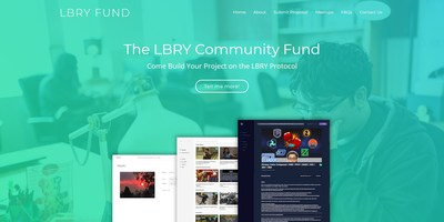 A preview of the new LBRY.fund website