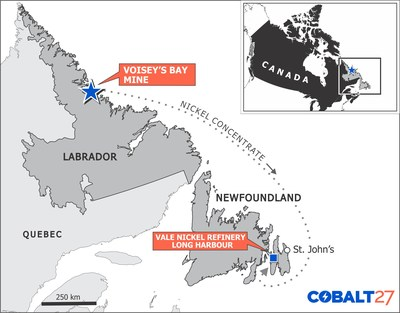 Cobalt 27宣布以3亿美元收购Voisey's Bay矿扩建项目钴流