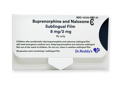 Buprenorphine and Naloxone Sublingual Film, 8 mg/2 mg