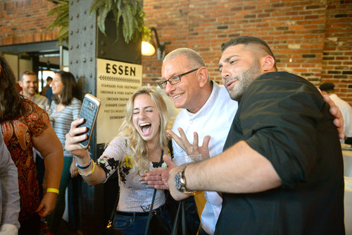 Guests with Robert Irvine at the 2017 Food Network & Cooking Channel New York City Wine & Food Festival