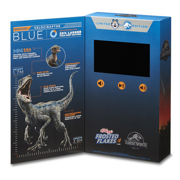 Limited-edition Kellogg's Frosted Flakes box contains exclusive, behind-the-scenes footage from Jurassic World: Fallen Kingdom.