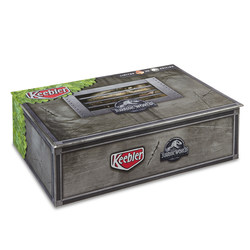 Keebler® Fudge Stripes limited-edition box features explosive content from Jurassic World: Fallen Kingdom days before the film's release.