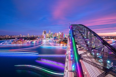 The sun will soon set over the final night of Vivid Sydney 2018. (PRNewsfoto/Destination NSW)