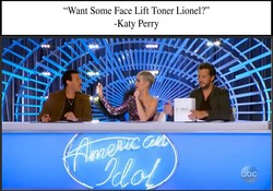Judges Katie Perry, Luke Bryant and Lionel Richie used the Z Skin Cosmetics products on camera during American Idol.