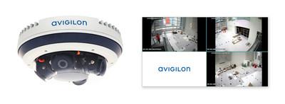 Figura 1. A nova linha de câmeras multissensores Avigilon H4 tem uma resolução total de 32 MP, analítica de vídeo de autoaprendizagem, compressão H.265 e tecnologia de infravermelhos.