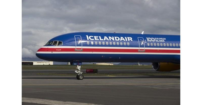 Icelandair Flies their National Flag in the Skies in Celebration of
