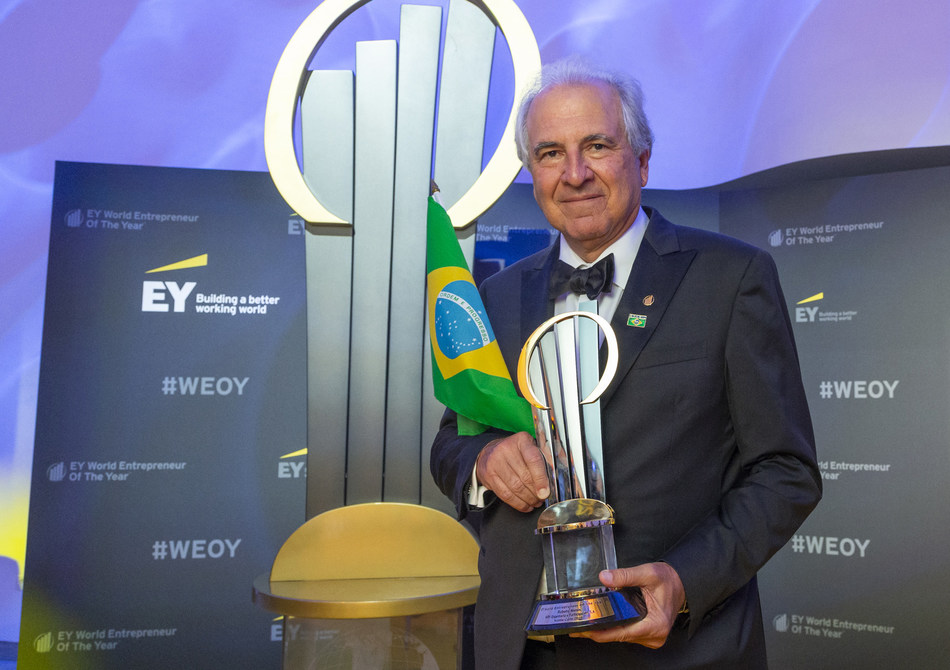 Rubens Menin of MRV Engenharia from Brazil has been named EY World Entrepreneur Of The Year 2018