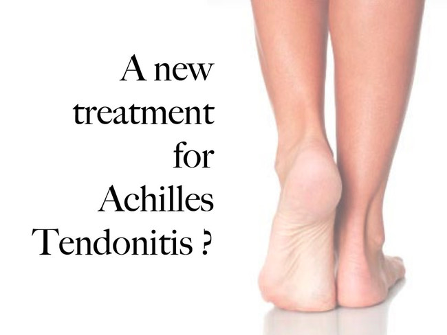 A promising new treatment for achilles tendonitis is undergoing a clinical trial, giving new hope to millions.